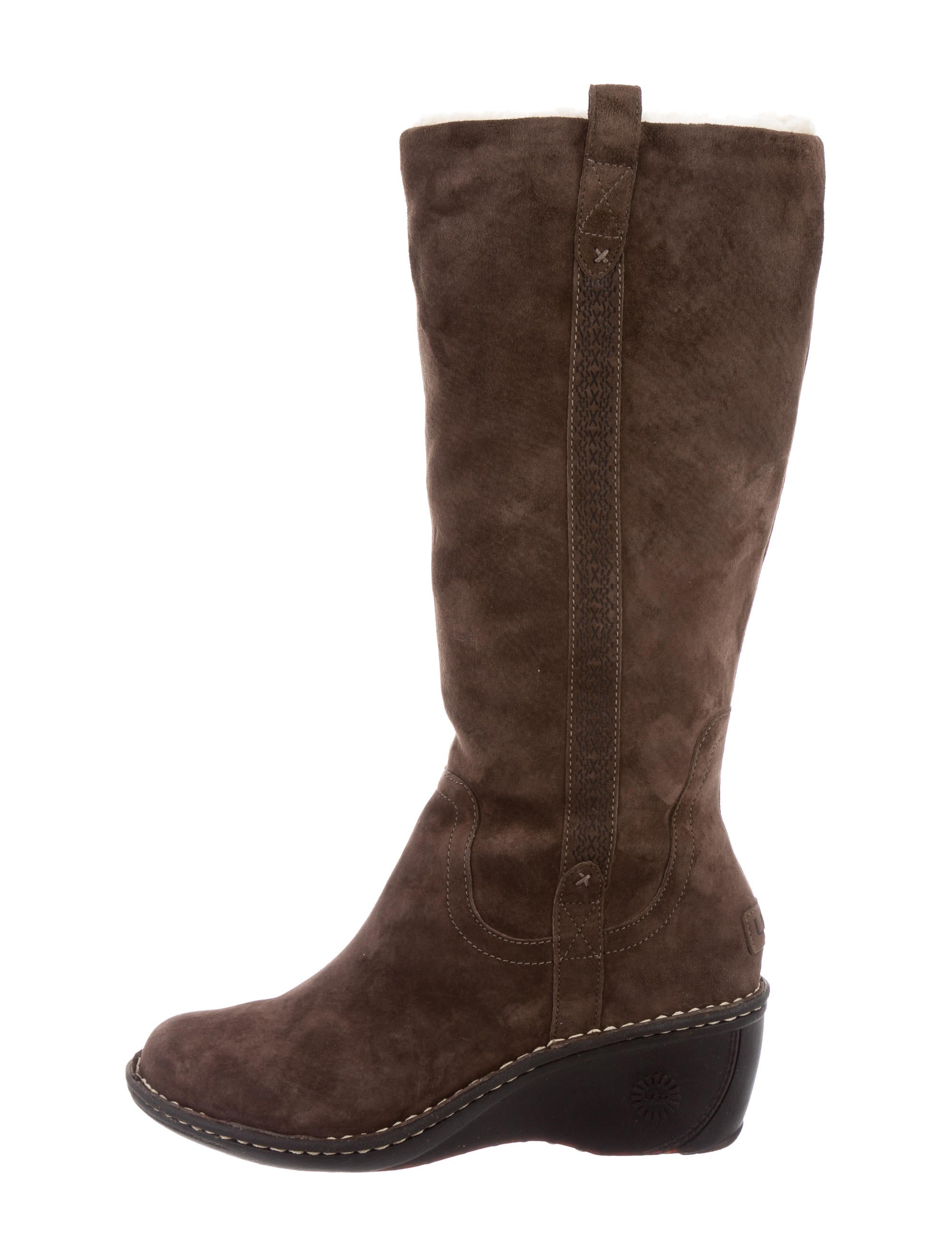 ugg australia suede mid calf boots shoes wuugg21247