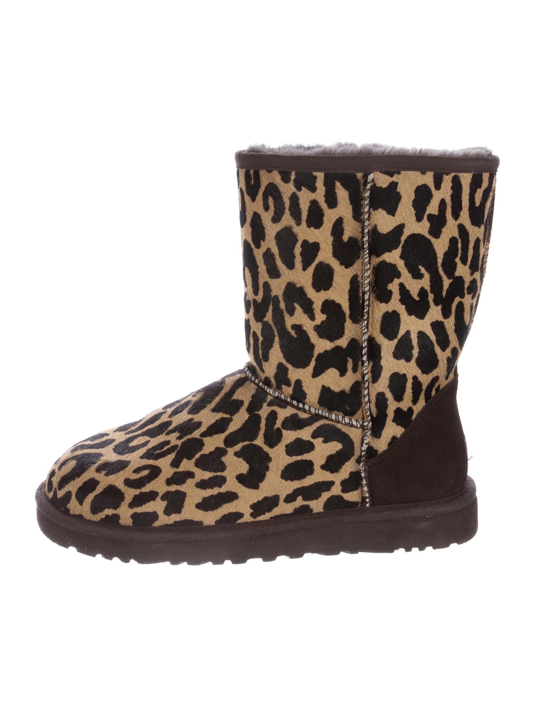 ugg australia leopard ponyhair boots shoes wuugg21304