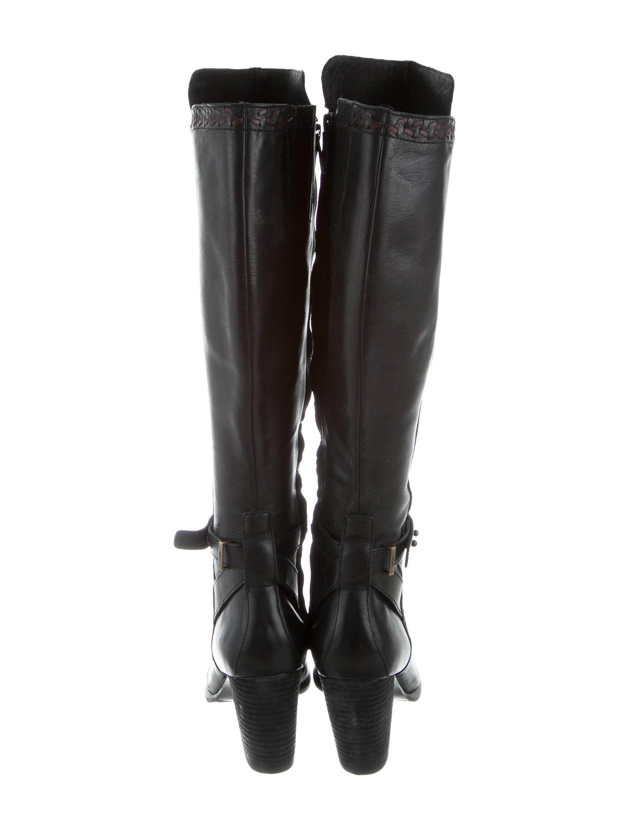 ugg australia leather knee high boots shoes wuugg21947