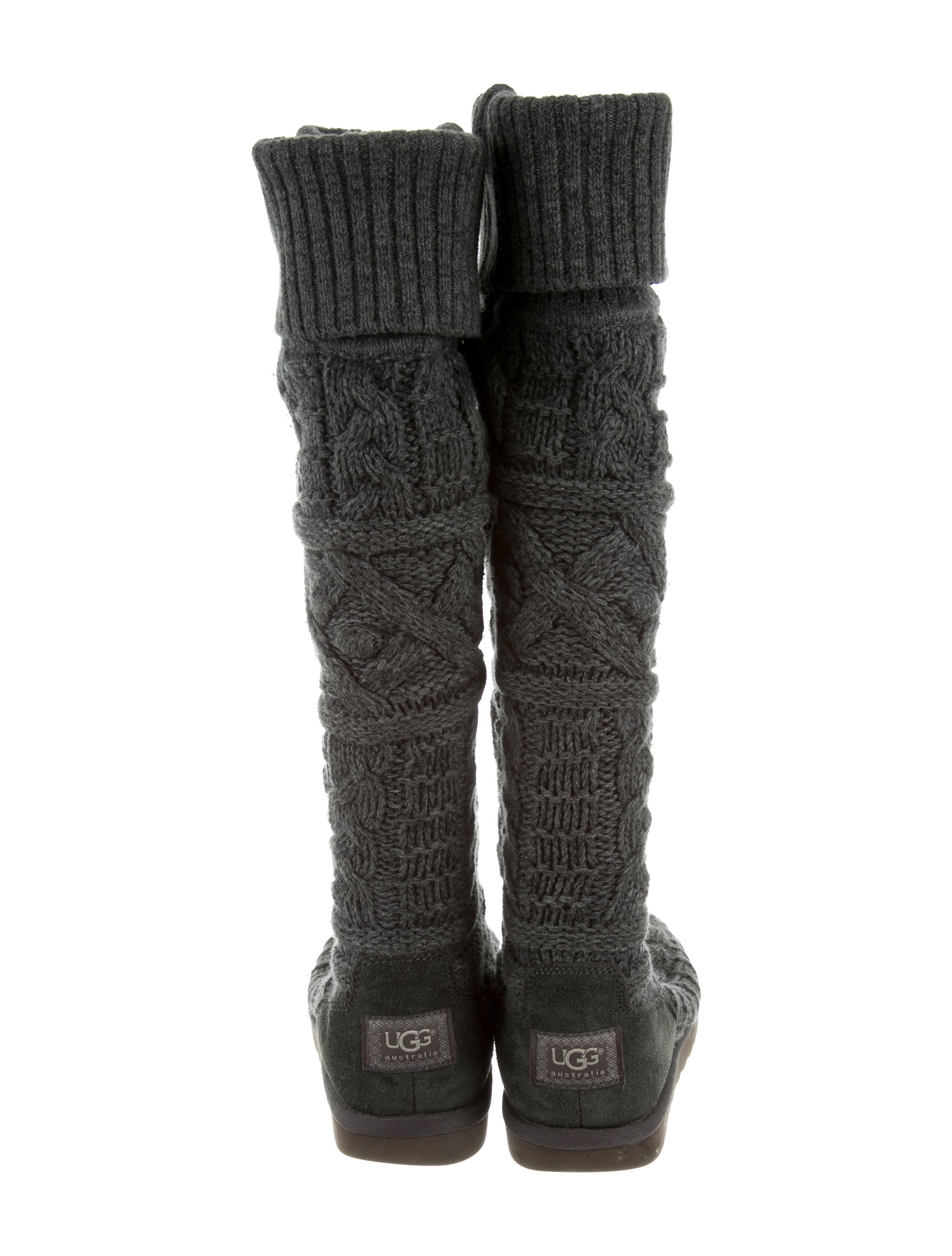 ugg australia knee high cable knit boots shoes
