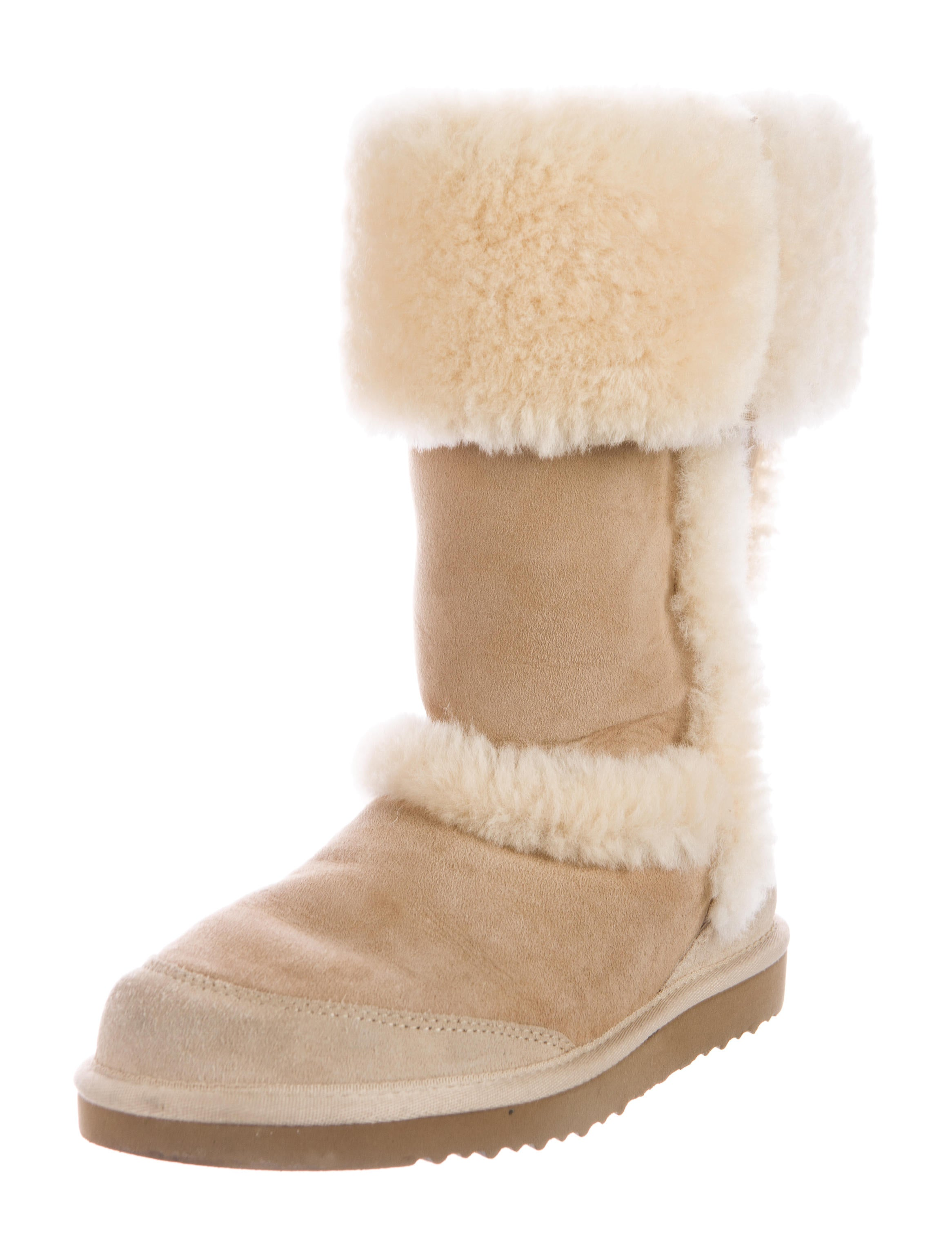 ugg australia suede fur trimmed boots shoes wuugg22273
