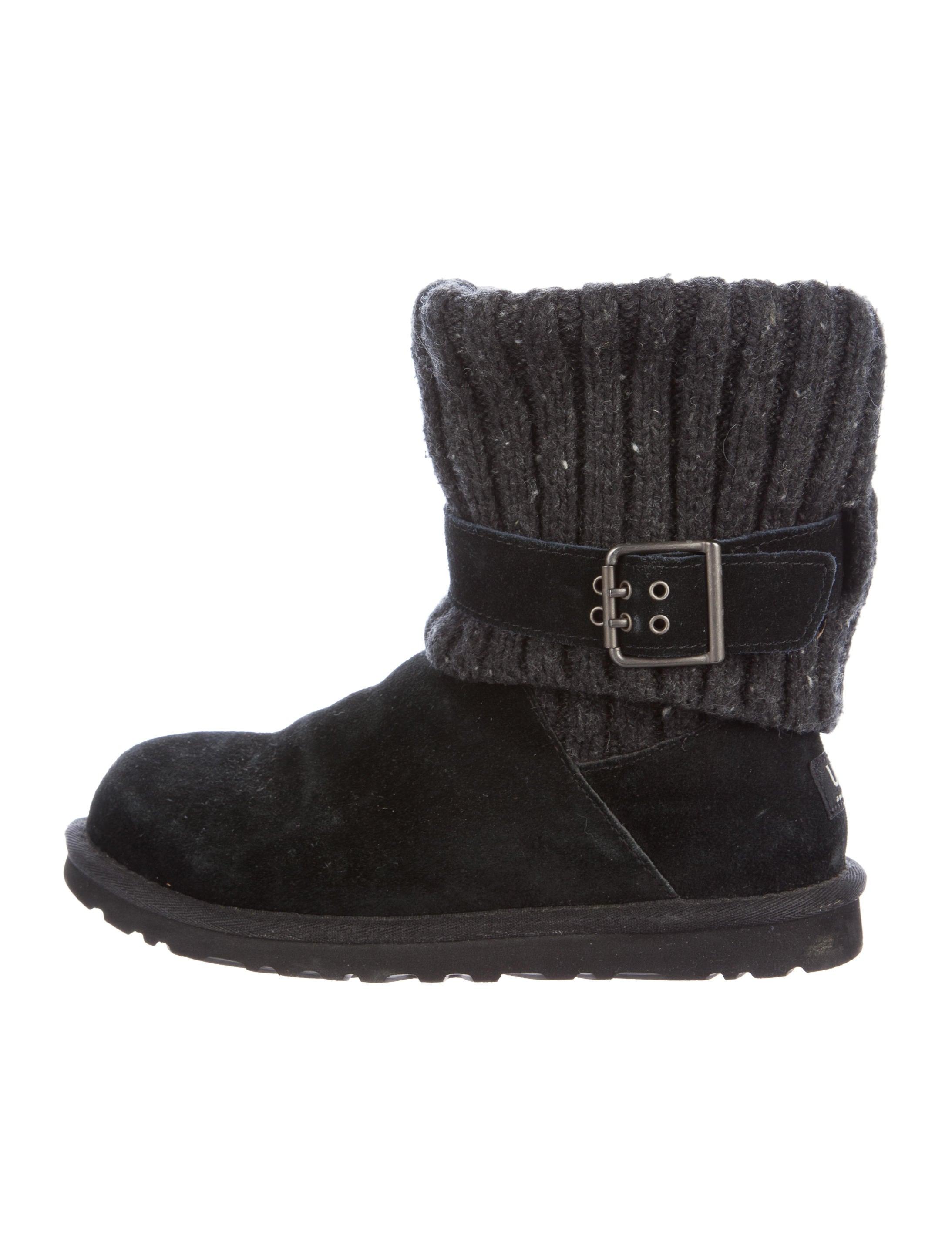 ugg australia cambridge knit ankle boots shoes