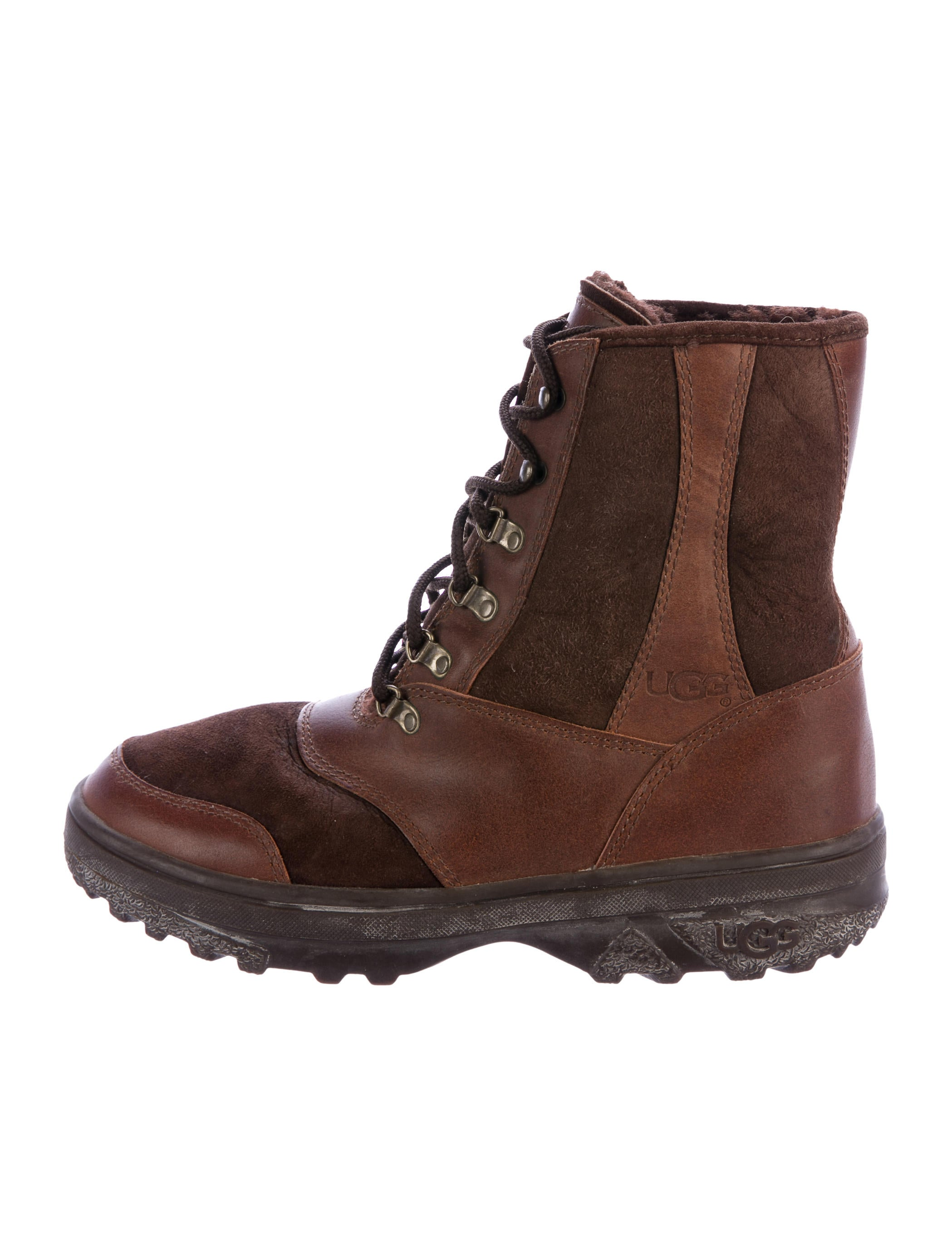 ugg australia shearling lined hiking boots shoes