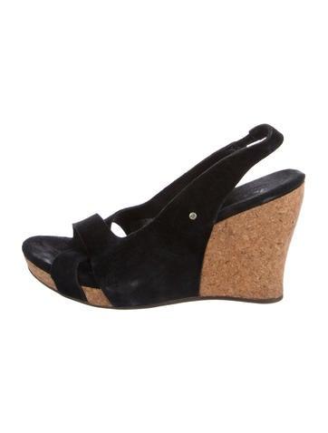 272a495a5b69 UGG Australia Slingback Wedge Sandals - Shoes - WUUGG22857