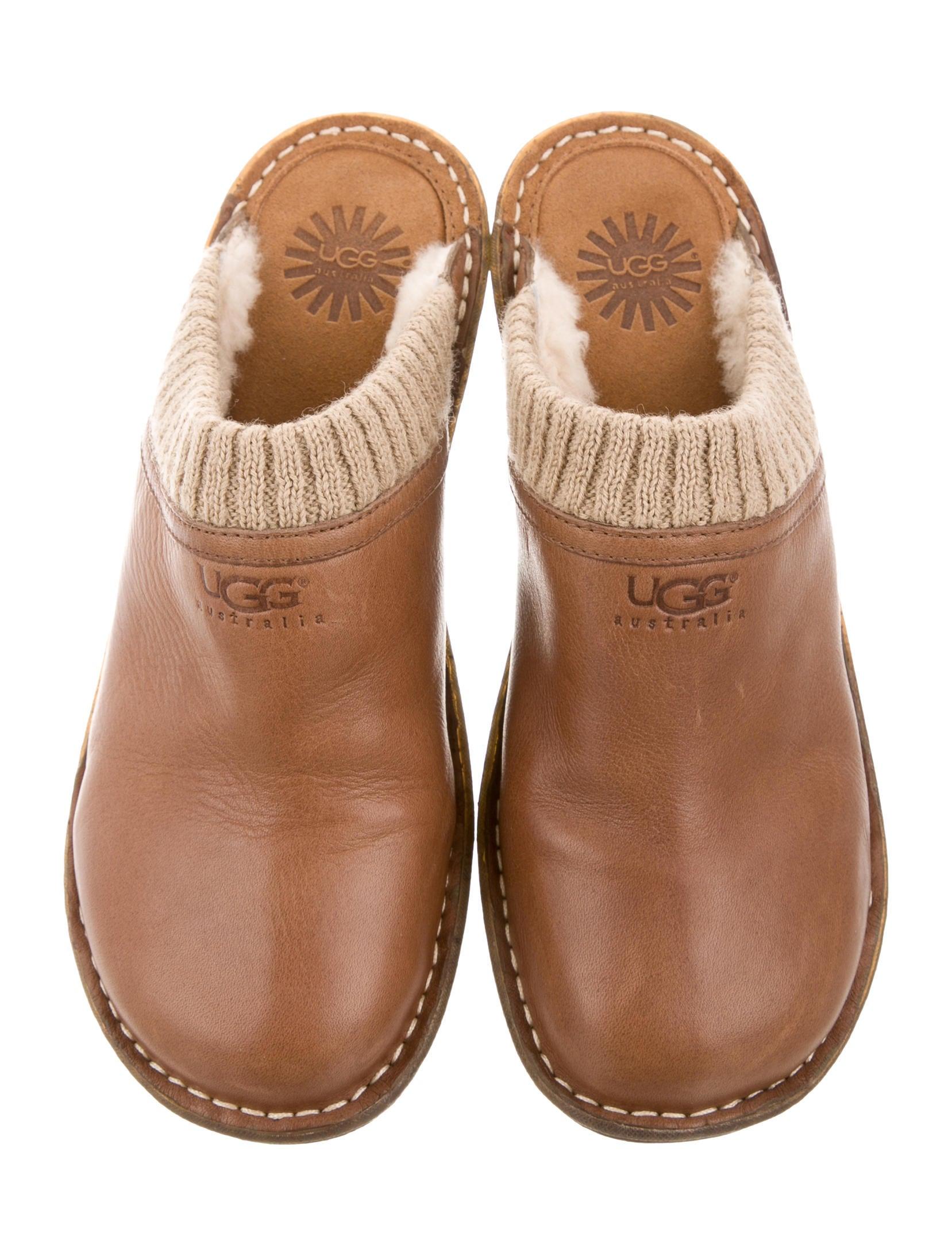 UGG Australia Leather Round-Toe Mules - Shoes - WUUGG22962 ...