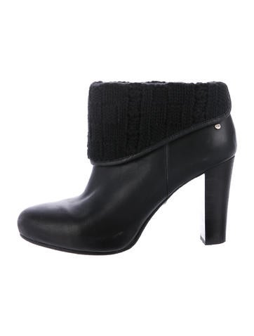 ugg australia leather toe ankle boots shoes