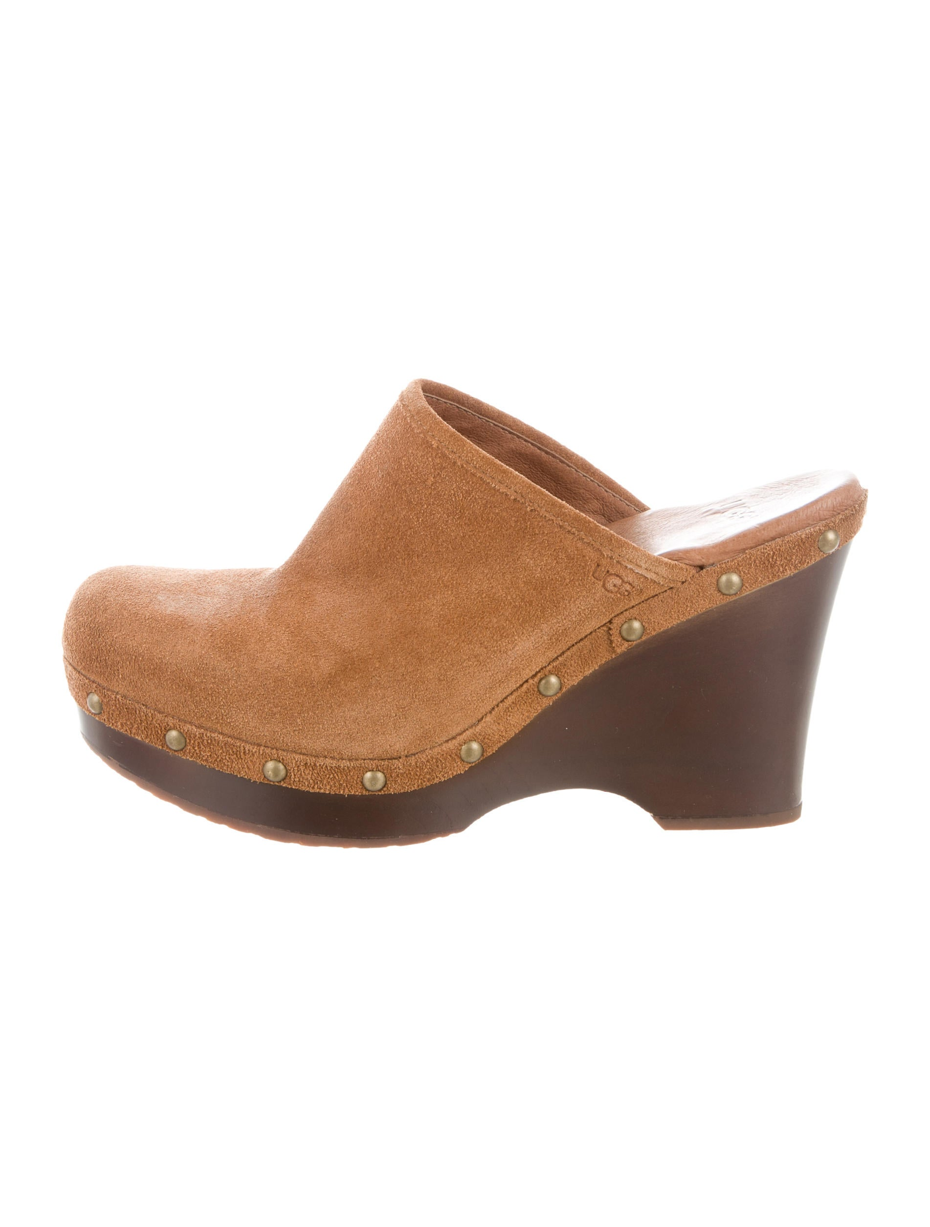 UGG Australia Leather Round-Toe Clogs top quality online LrDJD