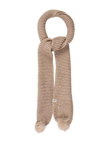 UGG Australia Shearling-Trimmed Sequined Scarf w/ Tags None