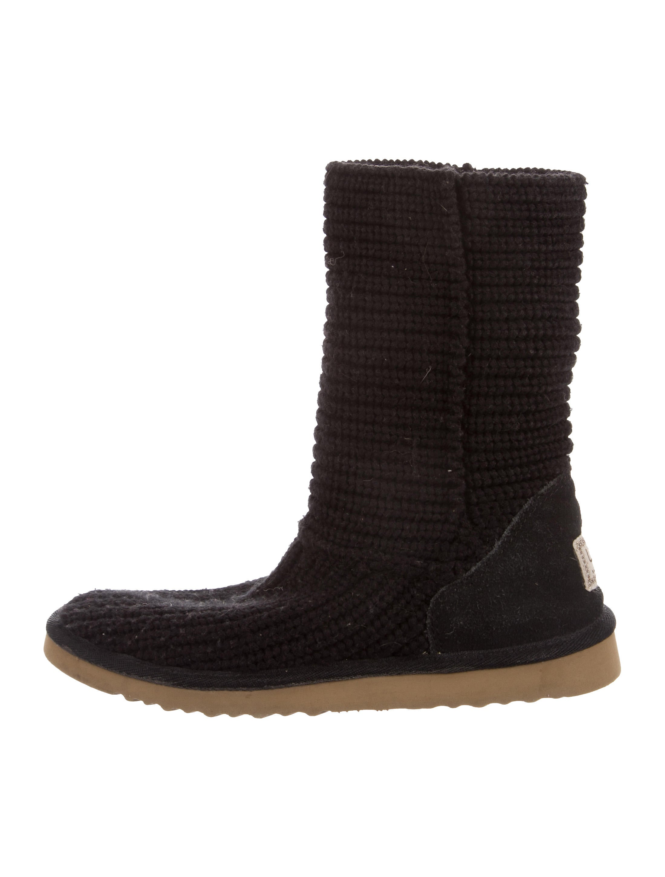 UGG Australia Knit Round-Toe Mid-Calf Boots store sale free shipping new Va2X3zG