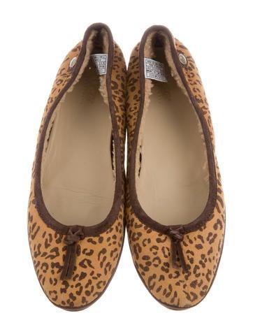 Suede Leopard Flats