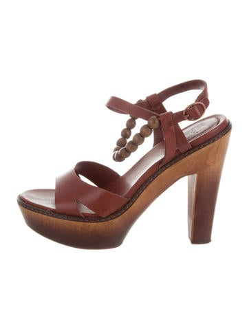 great deals cheap price UGG Australia Leather Platform Sandals cheap sale from china Xu5EZmh2R
