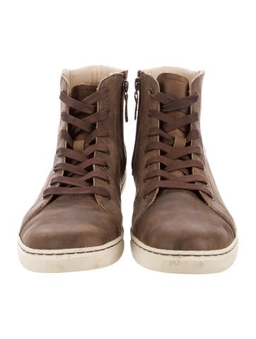 clearance latest collections UGG Australia Leather Round-Toe High-Top Sneakers buy cheap 2014 new bkgKnv