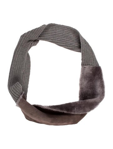 UGG Australia Shearling Knit Infinity Scarf None