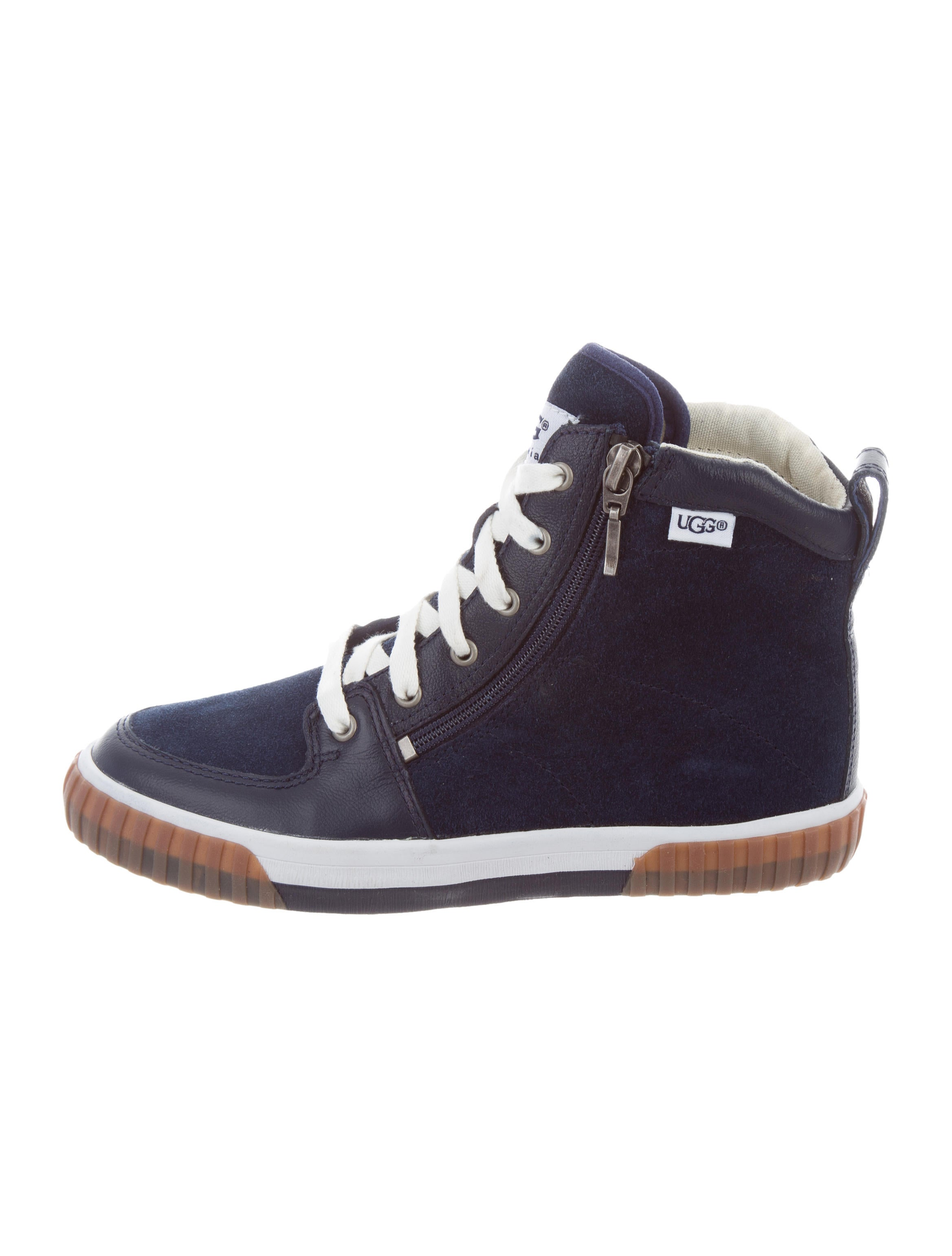 335f3d201ae Girls' Suede High-Top Sneakers