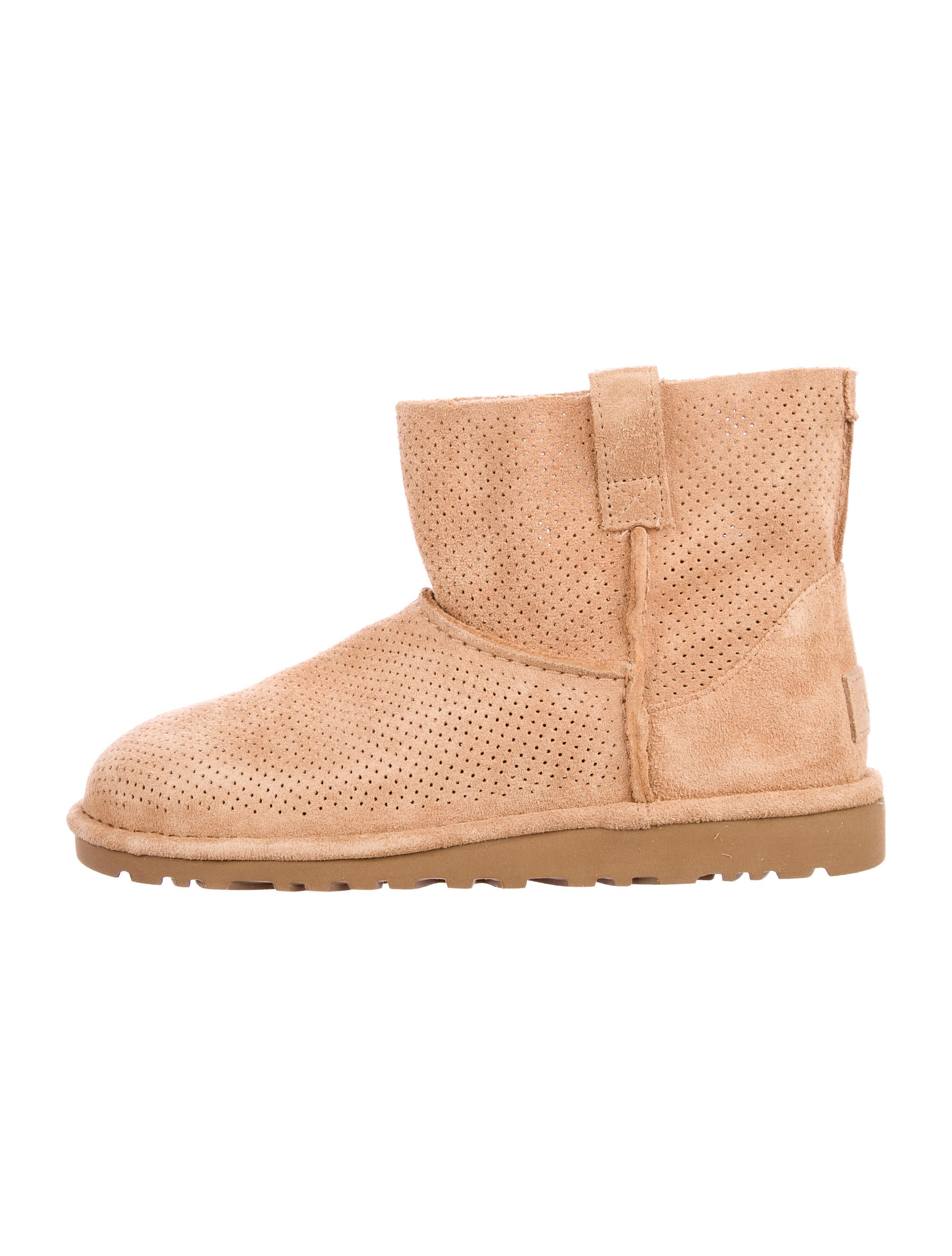 UGG Australia Perforated Suede Booties w/ Tags big discount for sale z1xw4t