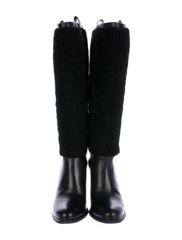 UGG Australia Ava Shearling-Trimmed Boots websites tVbLphtvY