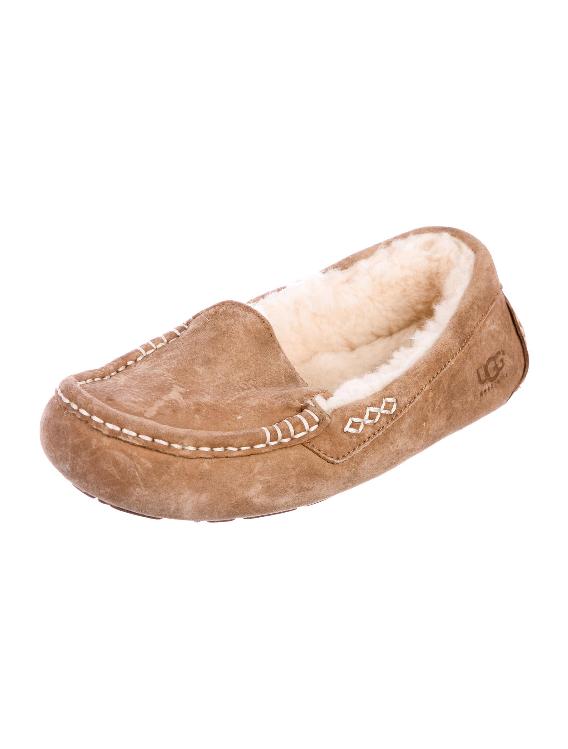 UGG Australia Shearling Round-Toe Moccasins buy cheap view new for sale cheap sale original RG7lJYMO