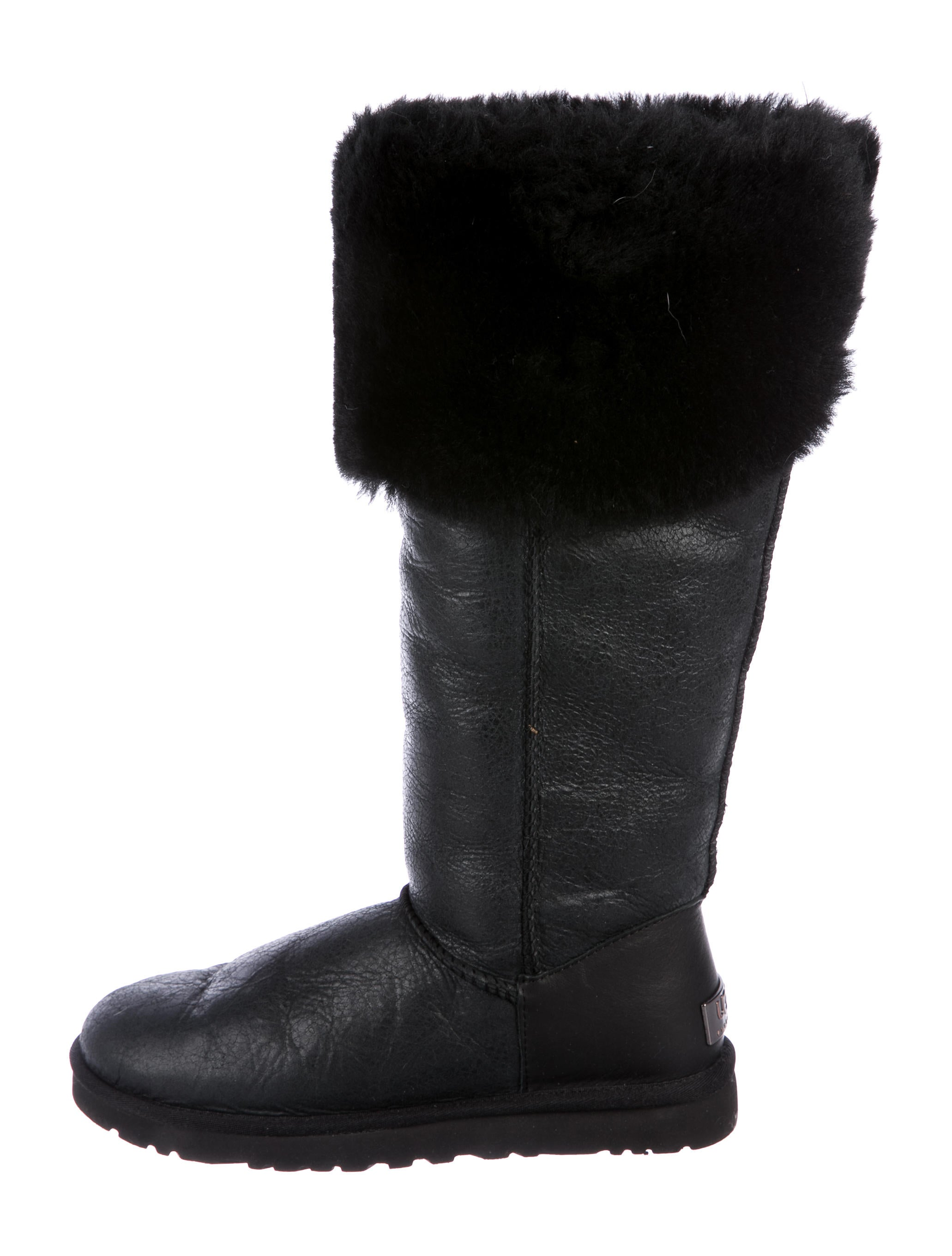 cheap amazon buy cheap good selling UGG Australia Shearling-Trimmed Knee Boots pv4oiA1zf