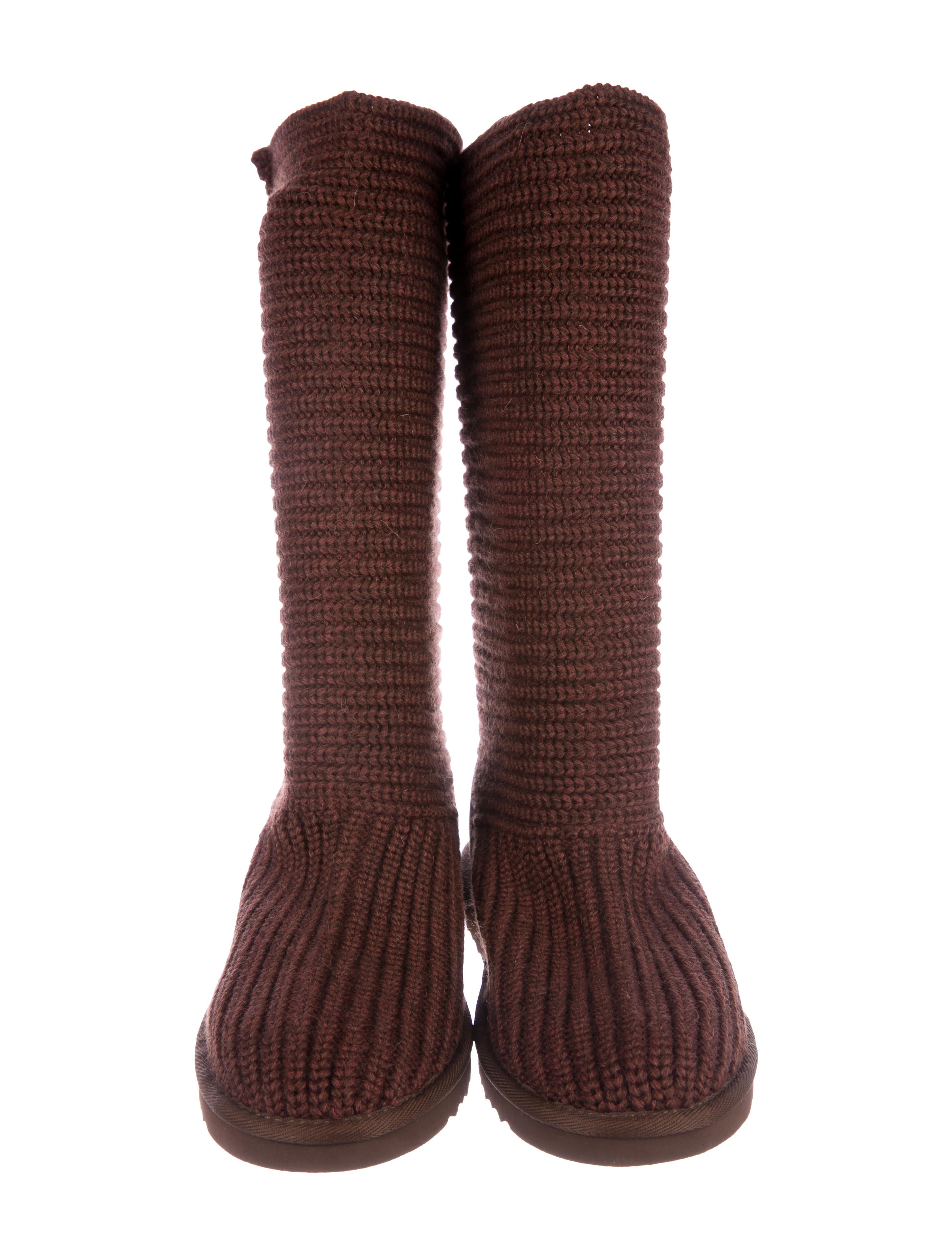 UGG Australia Knit Shearling-Trimmed Boots w/ Tags discounts clearance best really for sale oWXa9LJ91