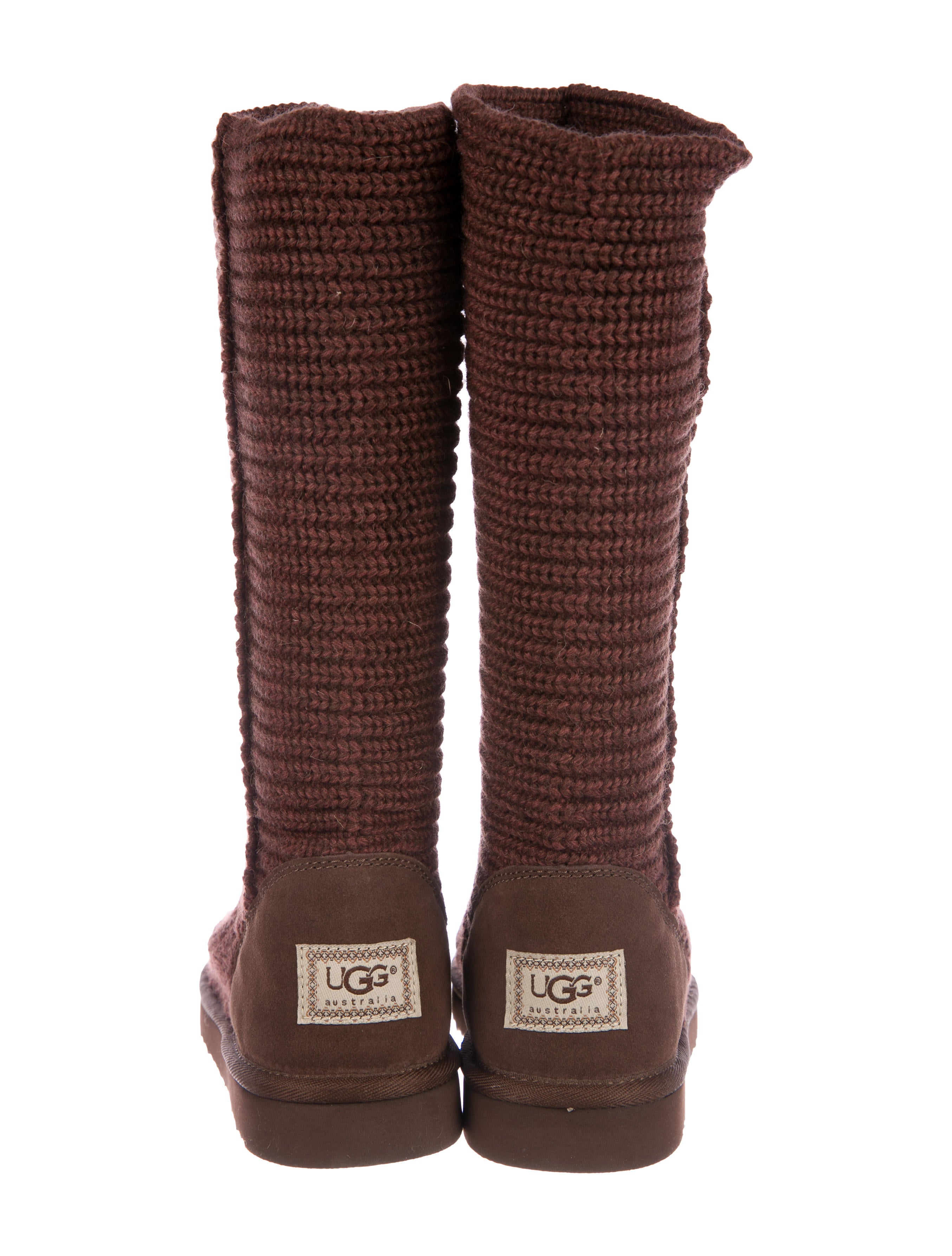 UGG Australia Knit Shearling-Trimmed Boots w/ Tags free shipping low shipping 5EIVgNiU