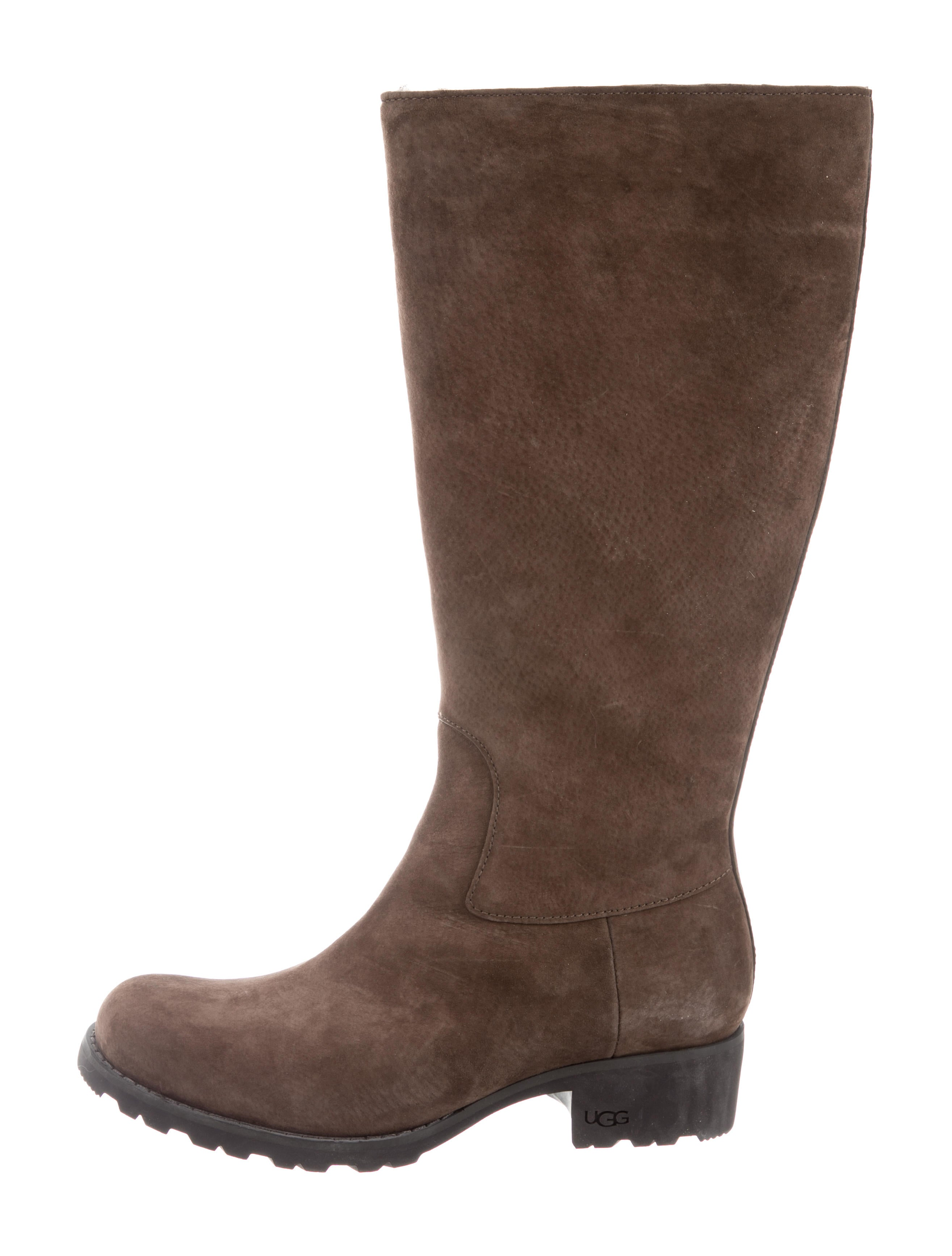 UGG Australia Nubuck Knee-High Boots 2014 new cheap online outlet amazon manchester great sale cheap online YvMc22bWkD