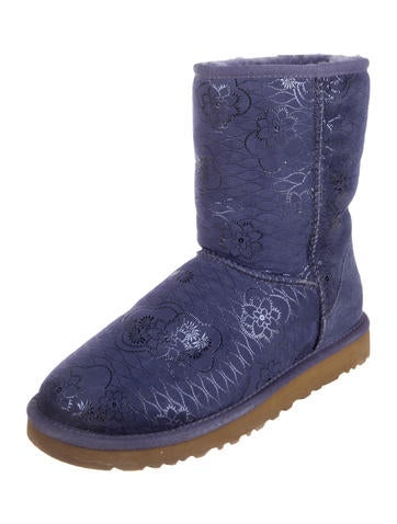 UGG Australia Metallic-Embossed Suede Booties outlet cheap online the cheapest online Inexpensive cheap online visa payment sale online 0rnNZq
