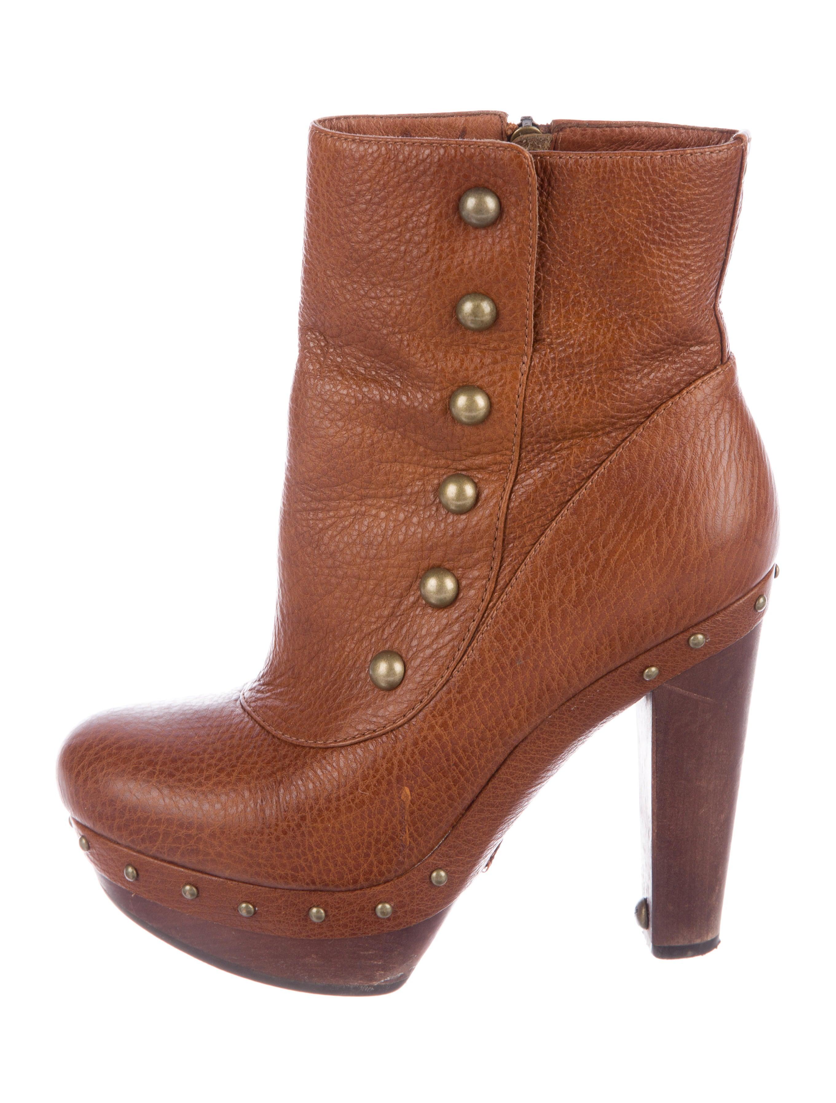 UGG Australia Leather Platform Ankle Boots cheap sale popular sale for nice discount footlocker 7AKR4ru9i