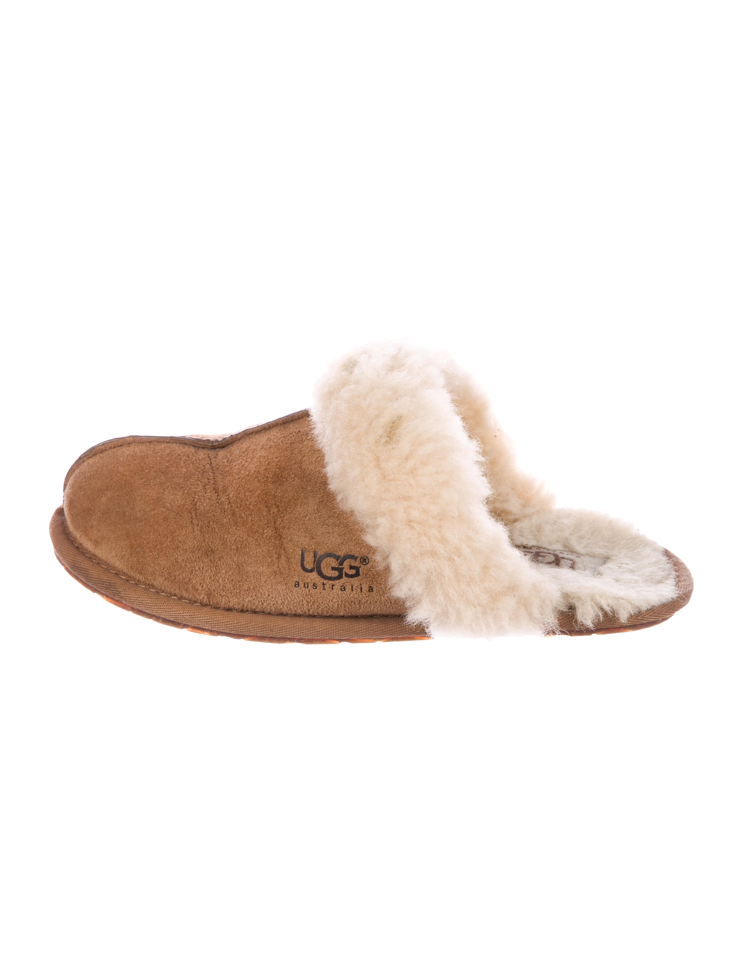 UGG Australia Suede Shearling-Trimmed Slippers cheap sale best discount buy clearance low cost Fe5W2Bzpys