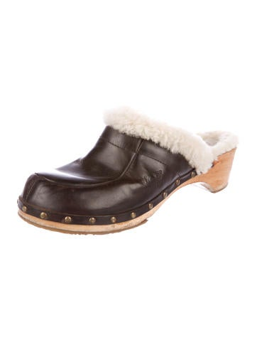 485c461f134 Kalie Shearling-Trimmed Clogs