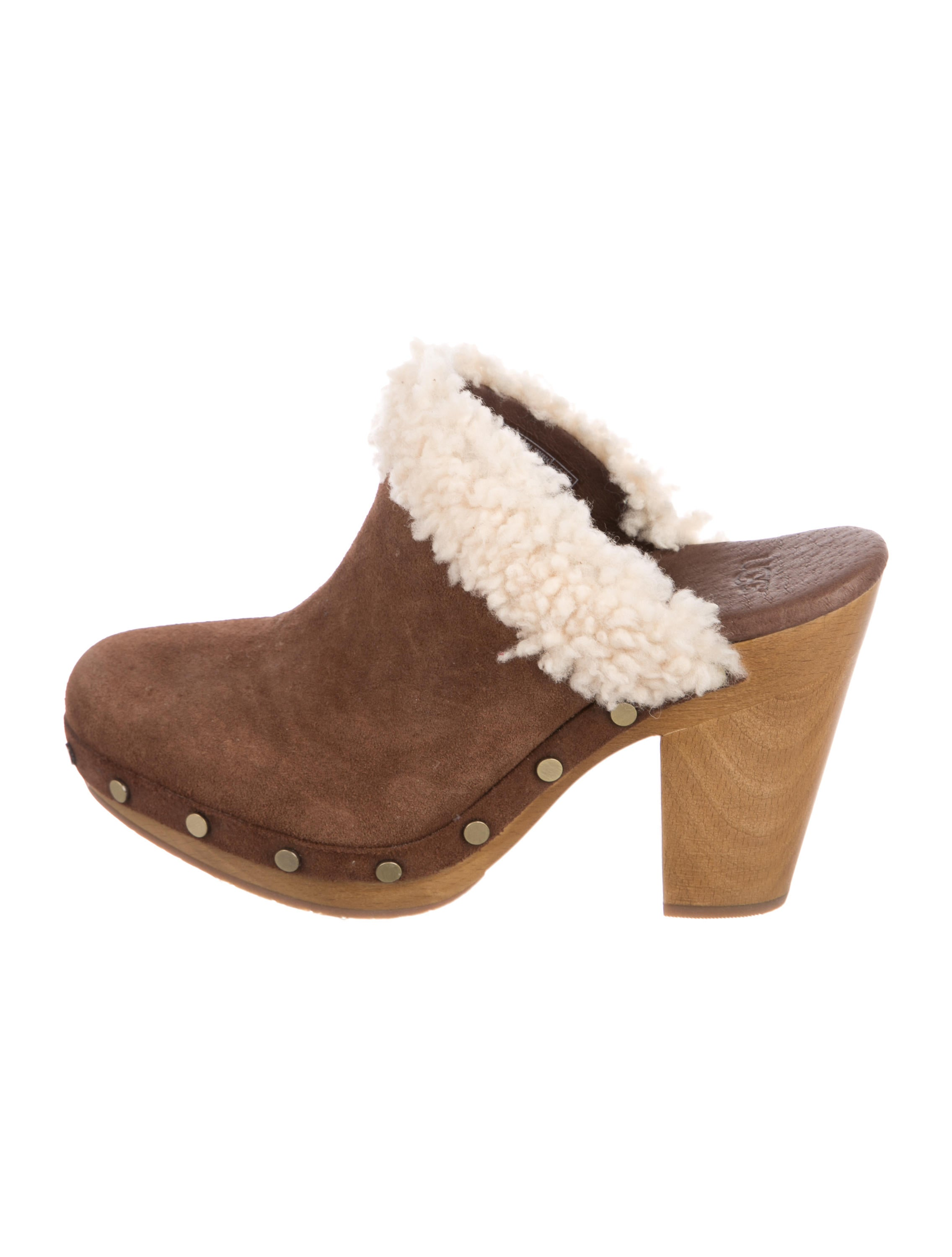 cheap sale shopping online where can i order UGG Australia Adele Shearling-Trimmed Mules w/ Tags outlet pay with paypal sale finishline 8IItoGk