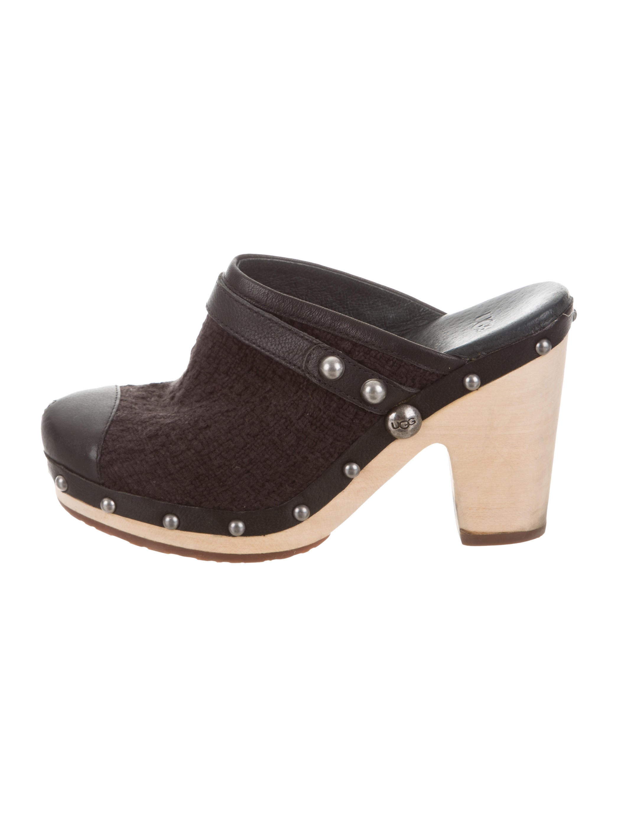 UGG Australia Tweed Round-Toe Mules factory outlet online zWXSPY9bH