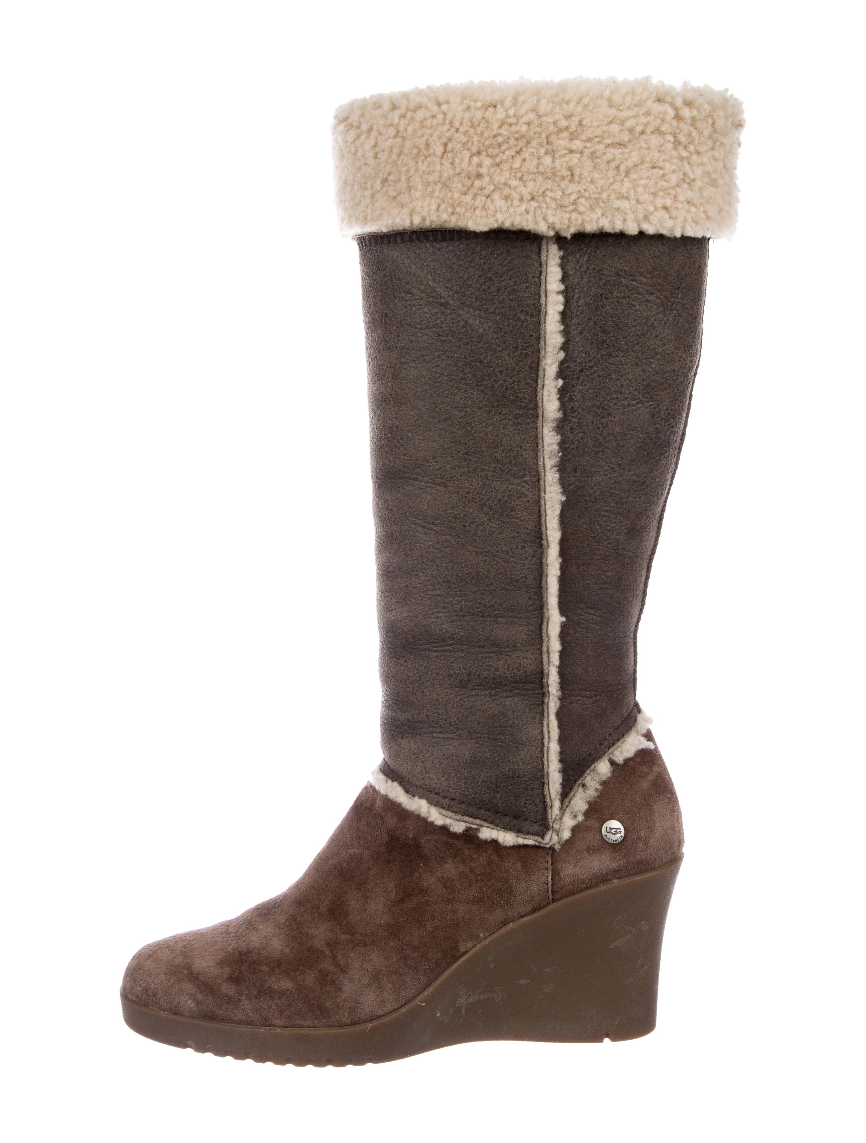 pre order for sale buy cheap clearance store UGG Australia Shearling Wedge Booties 37Tibcrvi9