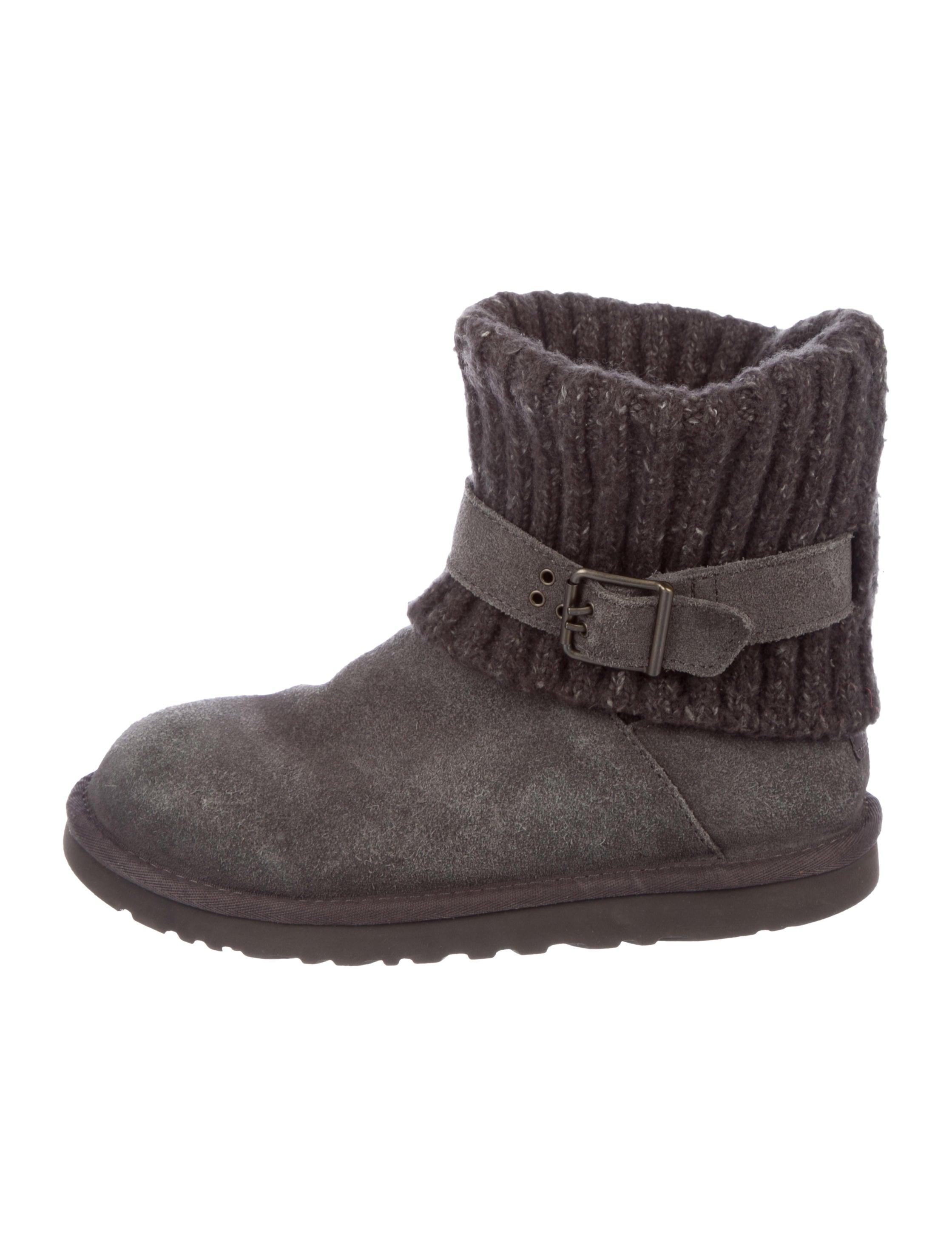 UGG Australia Knit Suede-Trimmed Boots order sale online LjM6lKZ3Ch