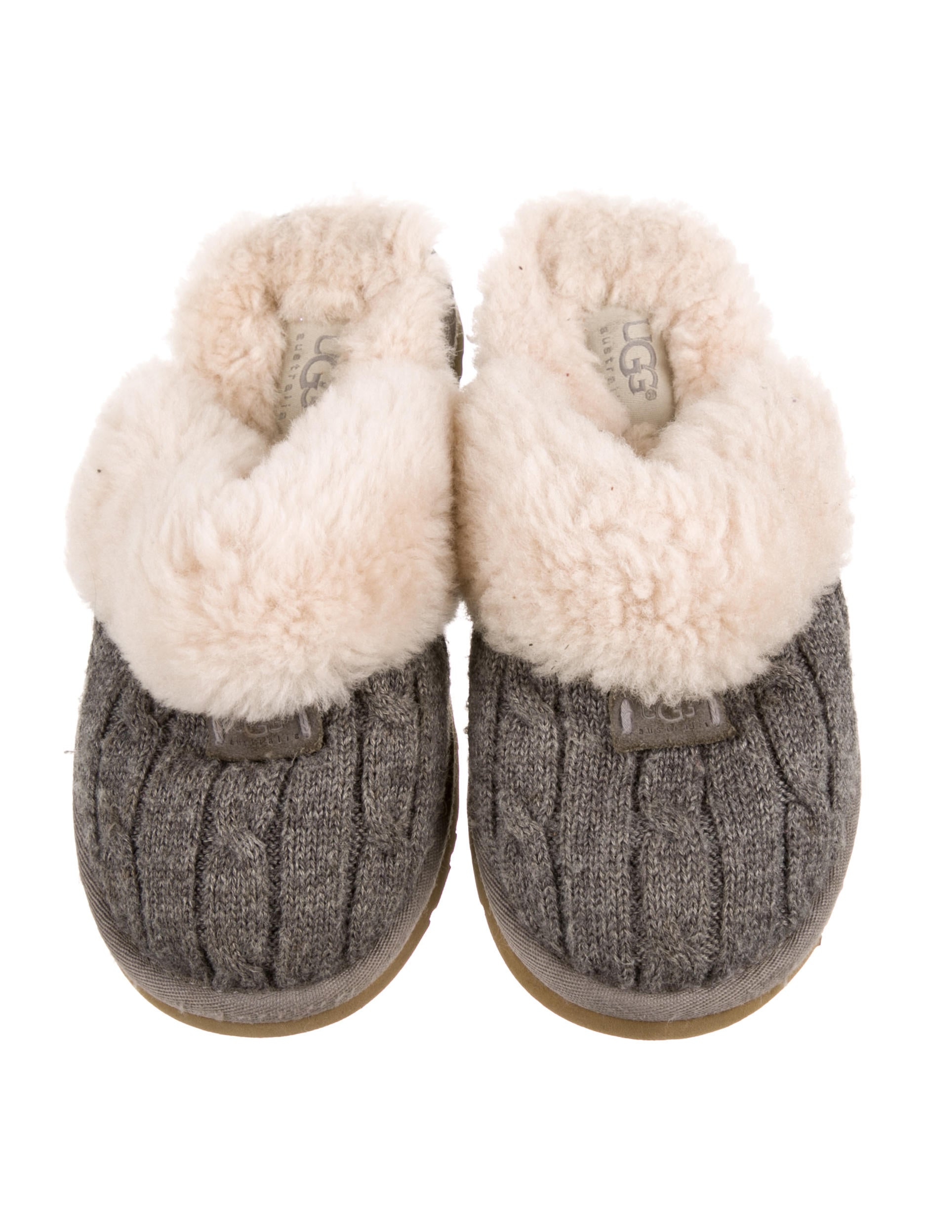 Ugg Australia Cozy Knit Slippers Girls Wuugg28102 The Realreal