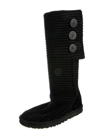 Ugg Australia Round Toe Knit Boots Shoes Wuugg30755 The Realreal
