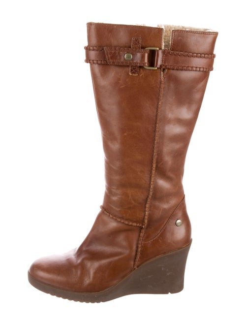 UGG Leather Knee-High Boots Brown