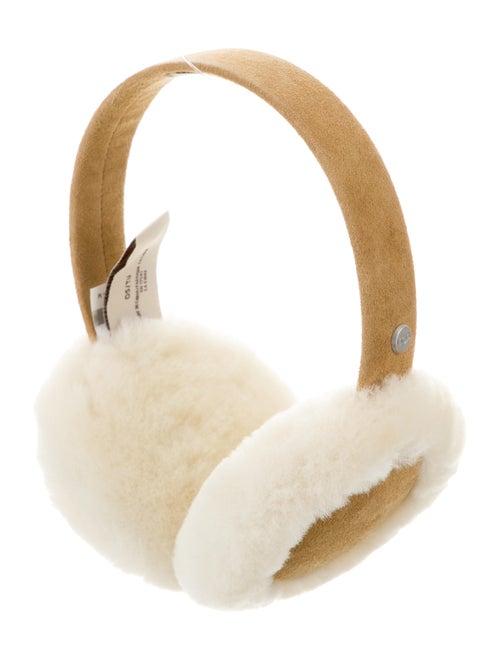 UGG Shearling & Suede Earmuffs w/ Tags Khaki