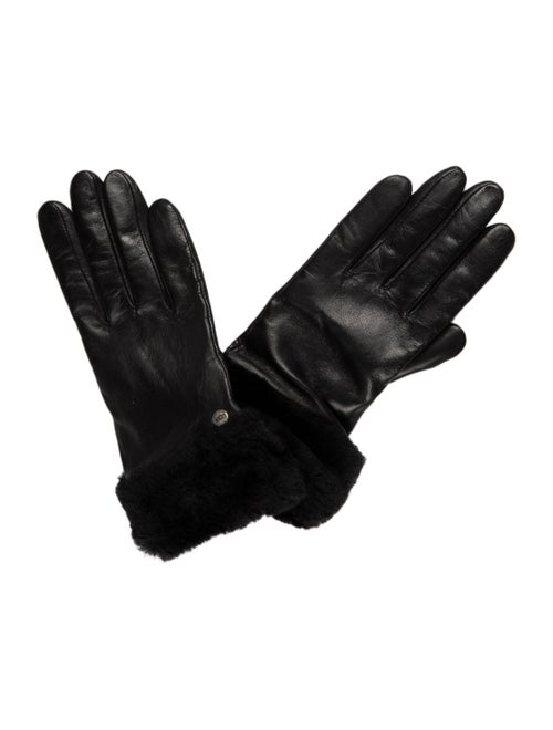 UGG Leather Shearling Gloves w/ Tags Black