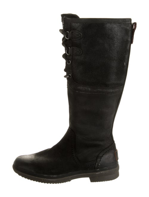 UGG Leather Riding Boots Black
