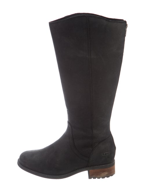 UGG Suede Riding Boots Black