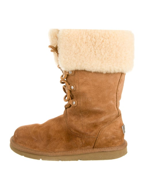 UGG Suede Lace-Up Boots