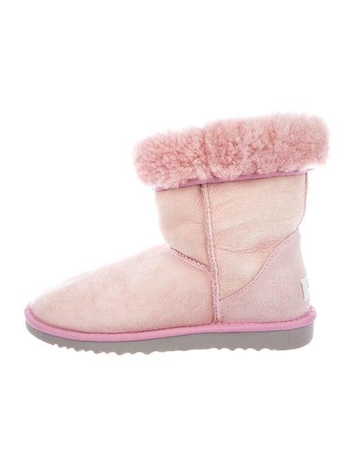 UGG Suede Whipstitch Trim Boots Pink