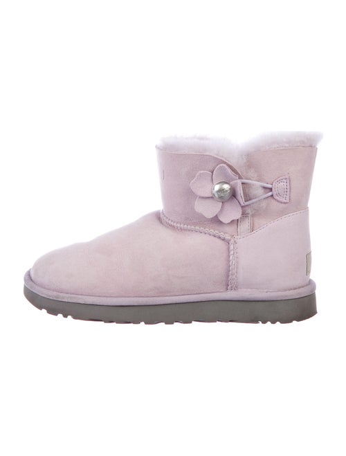 UGG Signature Logo Suede Boots Pink