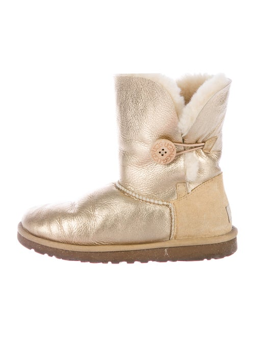 UGG Leather Boots Gold