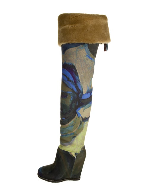 UGG x Claire Tabouret Suede Boots Green - image 1