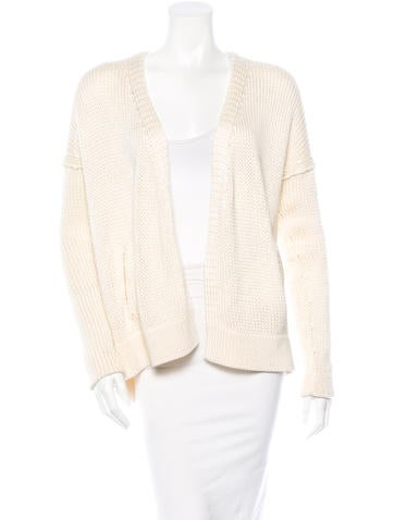 Crippen Open Front Knit Cardigan None