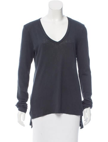 Crippen High-Low V-Neck Top None