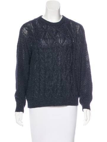 Crippen Long Sleeve Cable Knit Sweater None