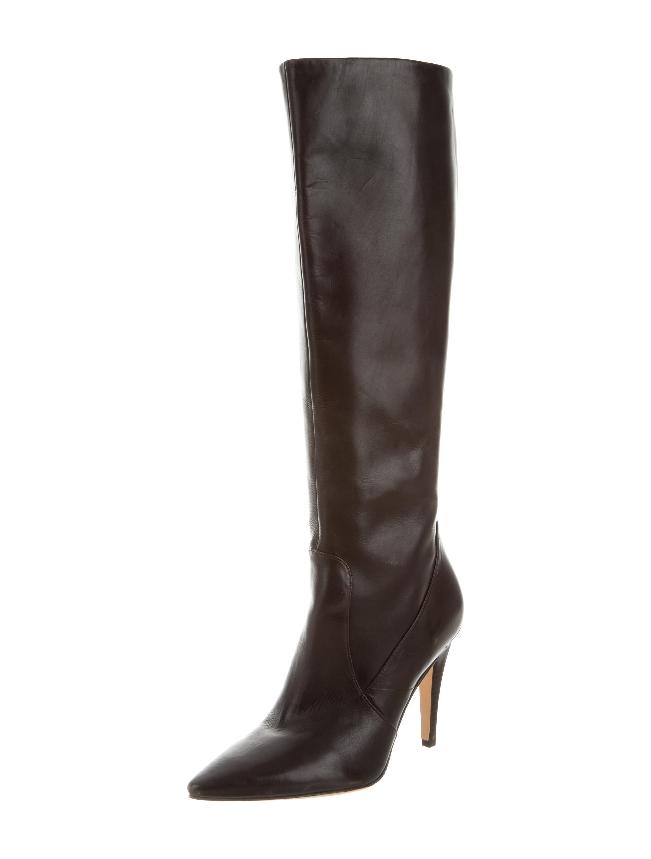 Via Spiga Leather Knee High Boots Shoes Wv020020 The