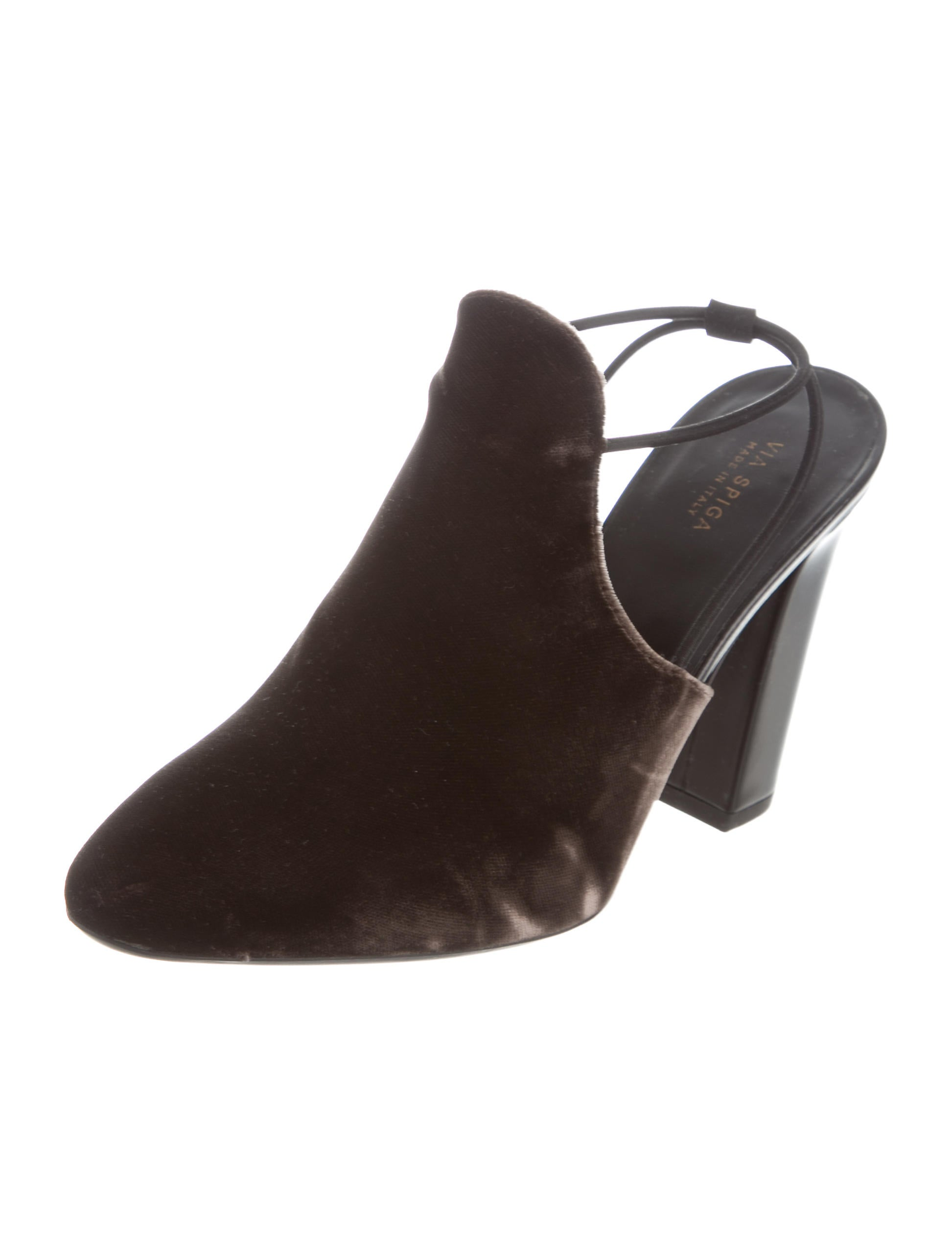 clearance 2015 buy cheap online Via Spiga Velvet Slingback Pumps wide range of online g3eubhsvT